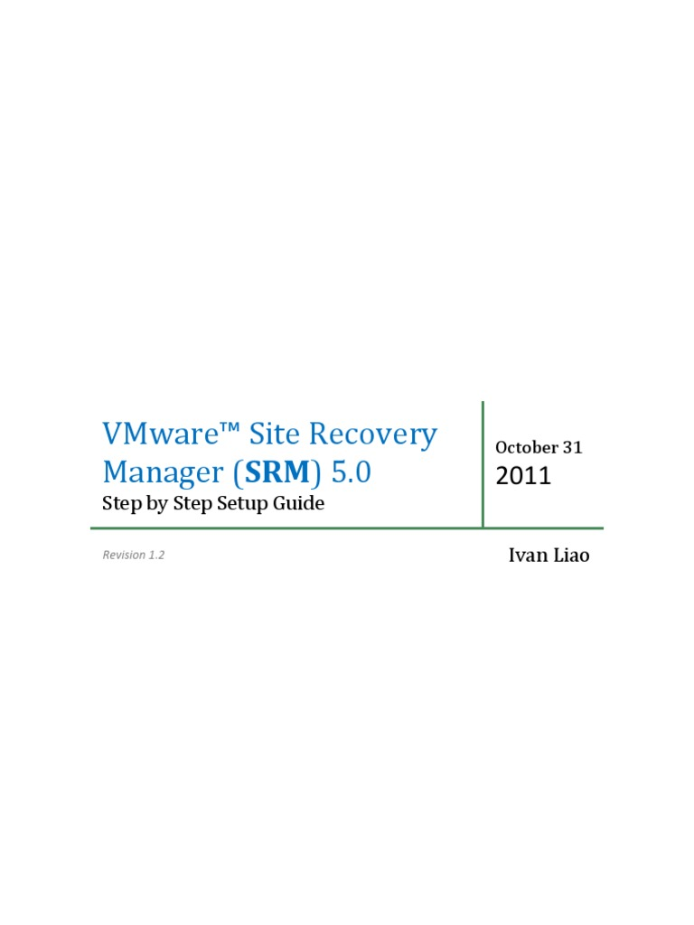 Administering Vmware Site Recovery Manager 5.0 Pdf