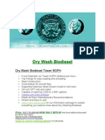Dry Wash Biodiesel
