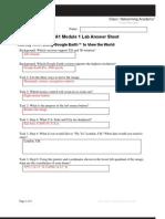 CCNA1 Module 1 Lab Answer Sheet