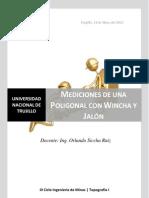 Mediciones Con Wincha y Jalon - Practica de Lab Oratorio