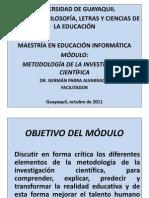 PRESENTACIÓN METODOLOGÍA INVESTIGACIÓN