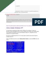 Cómo instalar Windows XP