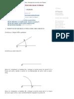 Desenho geometrico - angulos