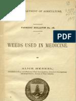 Henkel-Weeds Used in Medicine 1917