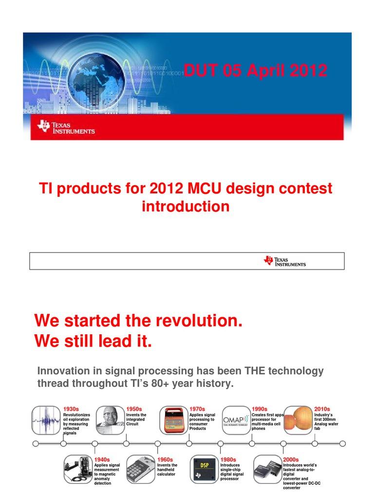 TI Overview | Digital Signal Processor | Microprocessor