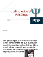 C+¦digo +®tico del Psic+¦logo part 1