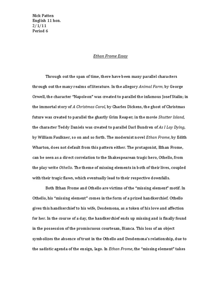 Vacation research paper
