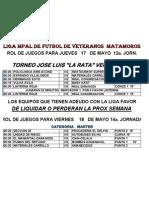 Rol Copa 2012 Jornada 14