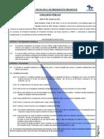 Edital de Abertura Das Inscries Concurso Pblico n 0012011 04102011