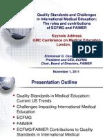 Quality Standards and Challenges in International Education Emmanuel G. Cassimatis Presentation.pdf 45381539