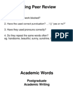 Academic Writing Sentences