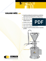Colloid Mill Vertical and Horizontal Models