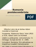 Romania postdecembrista