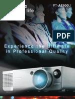 Panasonic PT-AE900E - Brochure