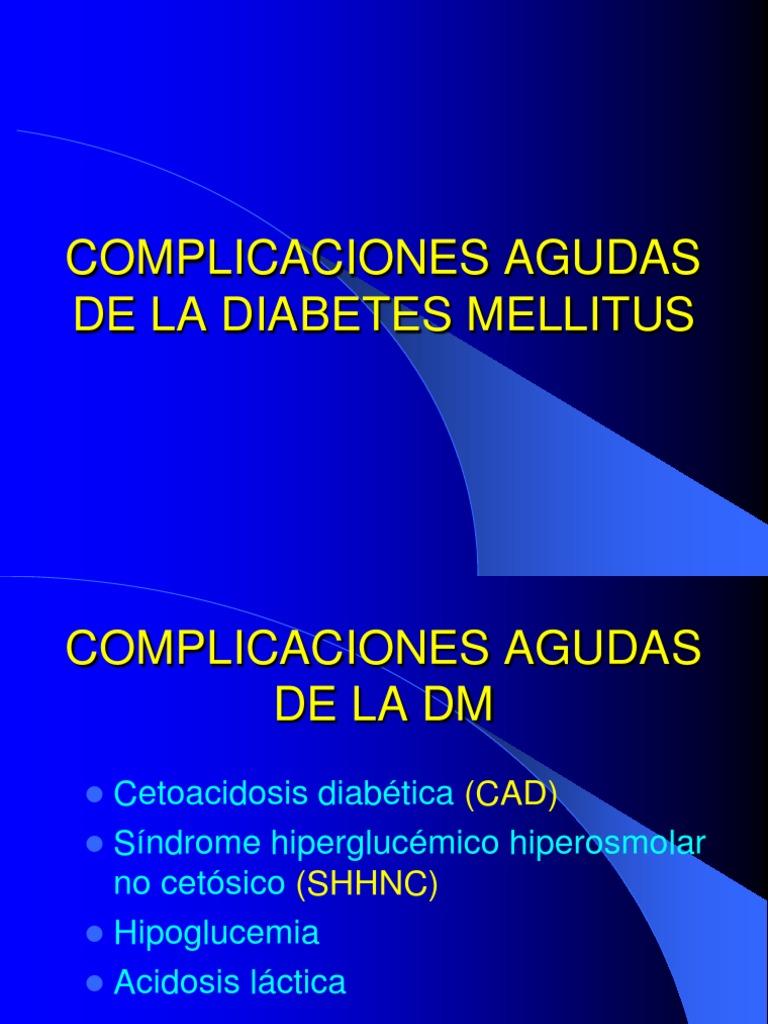 consecuencias agudas de la diabetes mellitus