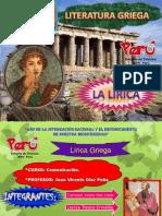 LITERATURA GRIEGA LIRICA