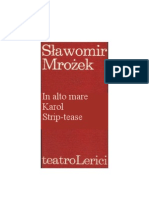 Slawomir Mrozek - Tre Atti Unici - 1961