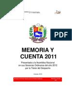 Memoria y Cuentas Ministerio Indigenas