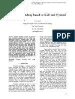 Template Matching based on SAD and Pyramid