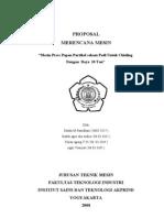 Proposal Merencana Mesin