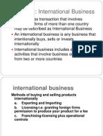 Introduction to International Business-AU