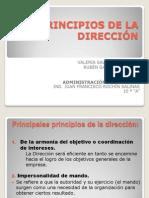 PRINCIPIOS DE LA DIRECCIÓN
