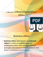 Factors Influencing Business Ethics