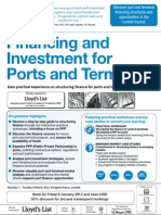 Financing and Investment for Ports & Terminals