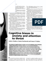 Cognitive Biases in Anxiety and Attention to Threat
