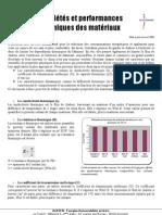 Proprietes Et Performances Thermiques Des Materiaux