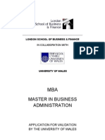 Wales MBA Modules