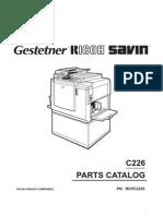 Xerox C226 Parts Manual
