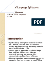 Language Syllabus Types