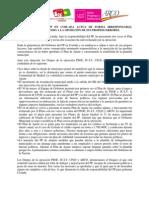 Comunicado Conjunto Plan de Ajuste de la Oposición de Coslada