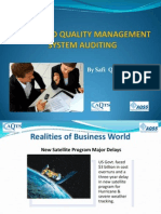 Risk Based Quality Management System Auditing