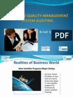 Risk Based Quality Management System Auditing