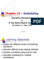 Scheduling 4th Edition