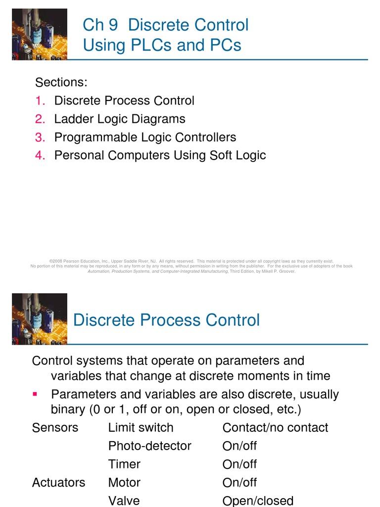 Ch 9 Discrete Control Using Plcs And Pcs Programmable Logic Diagram Process Controller Automation