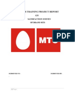 Satisfaction Survey of Brand Mts