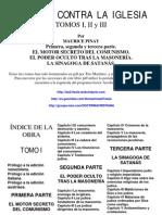 Complot Contra La Iglesia Tomos i II III Maurice Pinay