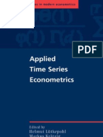 Applied Time Series Eco No Metrics - Lutkepohl H [2004]