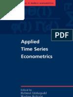 Applied Time Series Eco No Metrics - Lutkepohl H [2004]