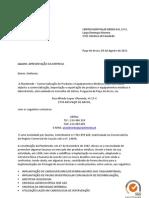 Carta de apresentação Plastimede