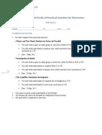 SAC 4 - Folio of Electronics Practical Activities