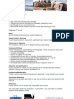 Chronological CV Format - AUssi