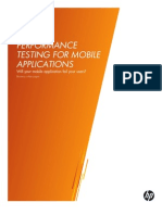 Performance Testing for Mobile Applications