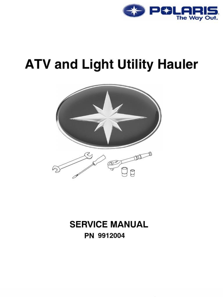 polaris atv service manual repair 1985 1995 all models rh es scribd com