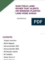 War Field Land Rover That Alerts on Sensing