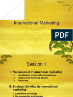 Marketing International Session 1