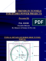 Modern Trends in Tunnels for HPPs